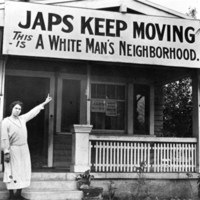 Japs Keep Moving - This is a While Man's Neighborhood